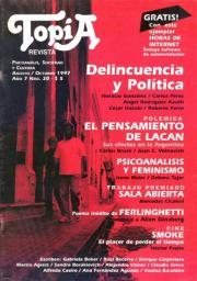 Tapa revista Delincuencia y Políica