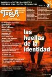 Tapa Revista Topía: Las huellas de la indentidad