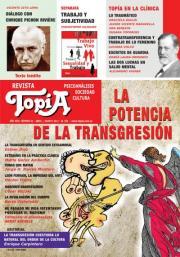 """Tapa Revista Topía """"La potencia de la transgresión"""""""