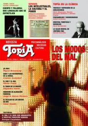 """Tapa Revista Topía """"Los modos del mal"""" - Agosto-2012"""