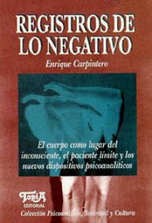 Tapa del libro: Registros de lo negativo