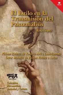 """Tapa del libro """"El estilo en la Transmisión del Psicoanálisis"""" de Rosa López"""