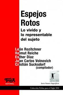 """Tapa del libro """"Espejos Rotos"""""""