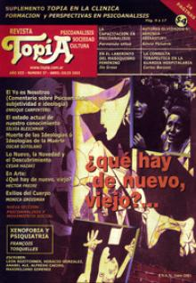 Tapa Revista Topía: ¿Qué hay de nuevo, viejo?