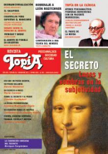 Tapa del Revista Topía: El Secreto. Luces y sombras en la subjetividad