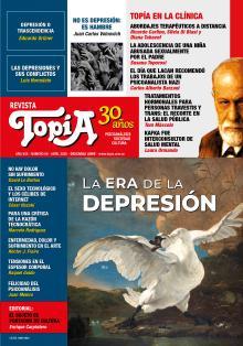 Tapa Revista Topía #88 (Abril/2020). La era de la depresión.
