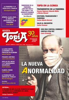 Tapa Revista Topía #89 (Agosto/2020). La nueva Anormalidad.